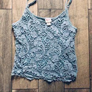Mossimo Crocheted Blue tank sz small